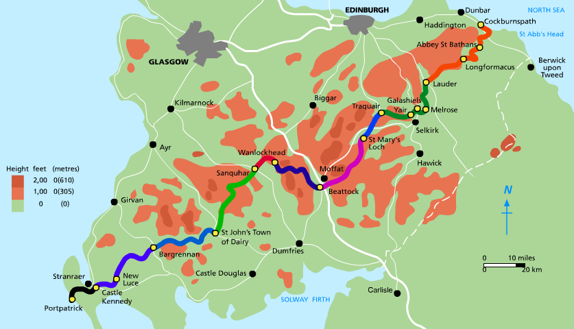 Southern Upland Way Map