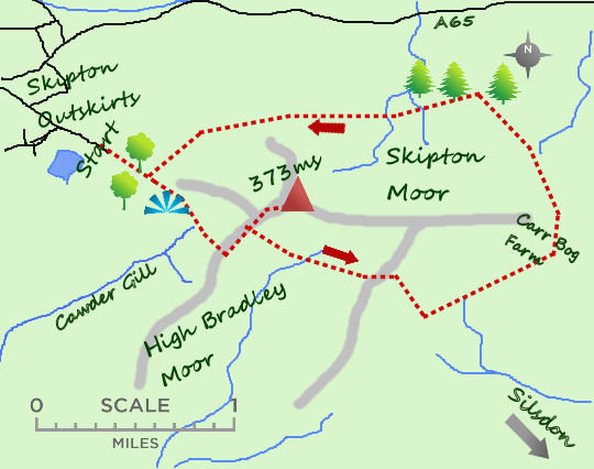 Skipton Moor map