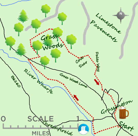 Grassington Woods map