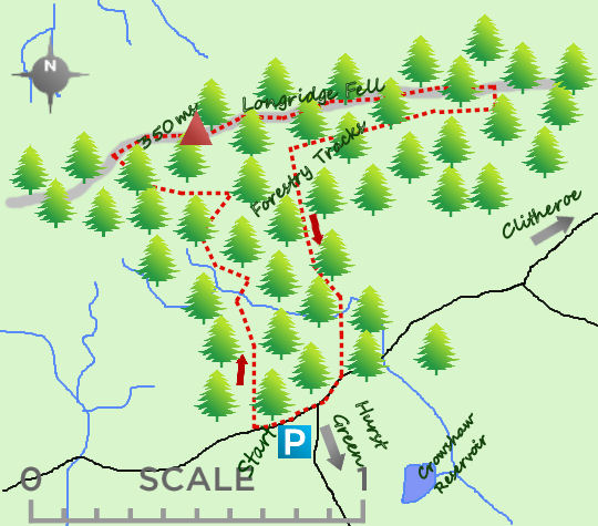 Longridge Fell map
