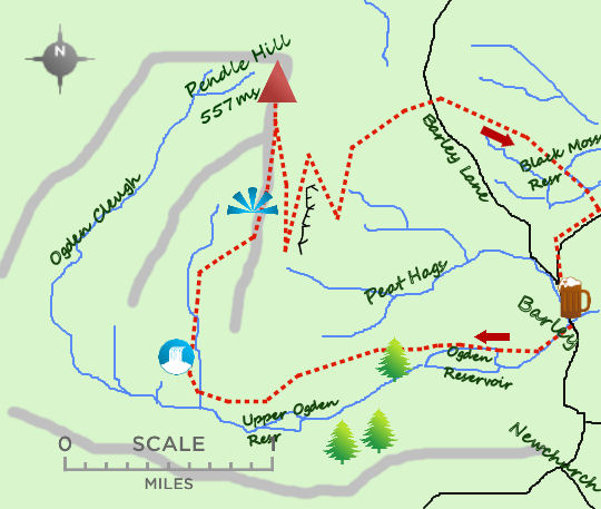 Pendle Hill map