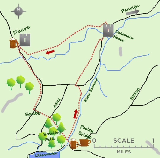 Dacre & Dalemain map