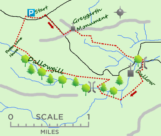 Dallowgill map