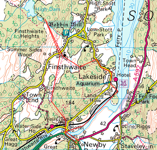 Windemere St: Finsthwaite, High Dam And The Shores Of Windermere