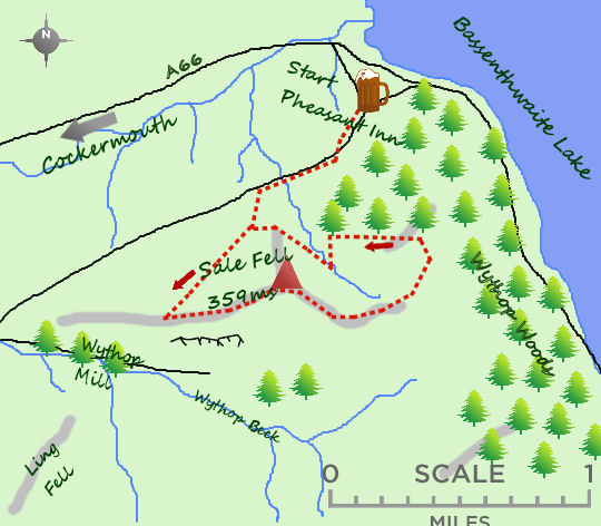 Sale Fell map