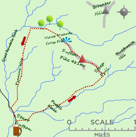 Dufton Pike map