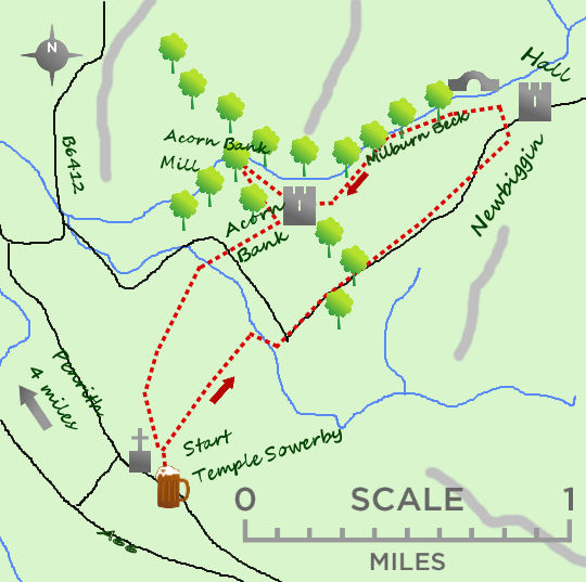 Temple Sowerby map