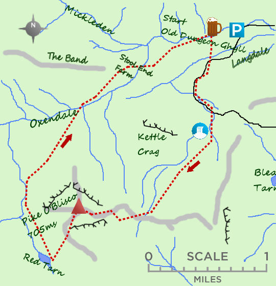 Pike O'Blisco map
