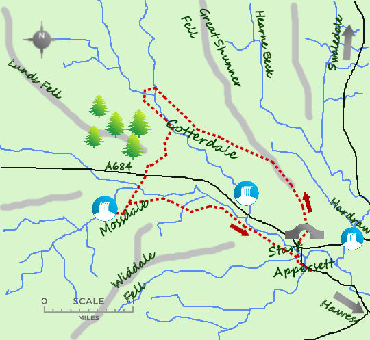 Cotterdale map