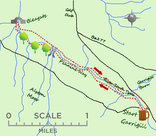 Garrigill Riverside map