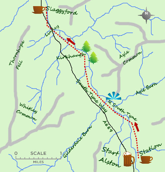South Tyne way map