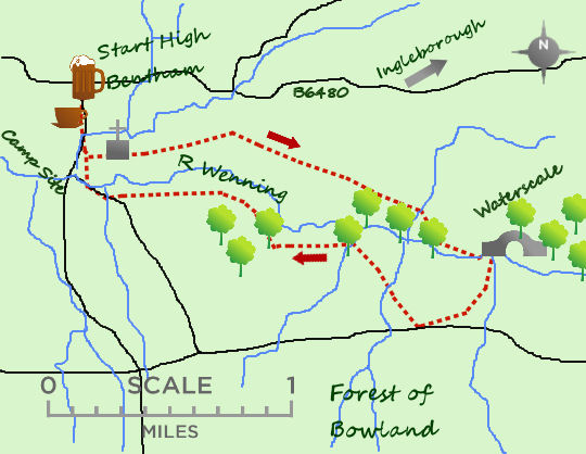 Bentham Heritage Walk map