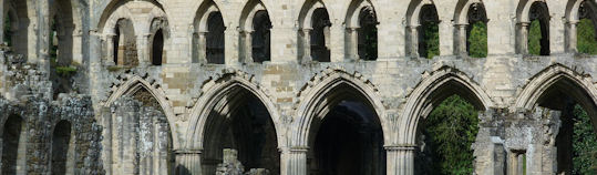 Cloisters at the Rievaulx Abbey