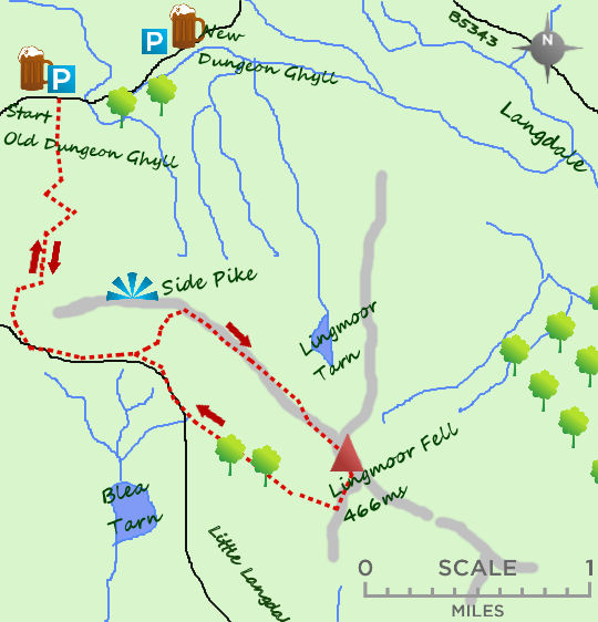 Lingmoor Fell map
