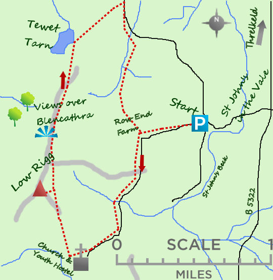 St Johns in the Vale map