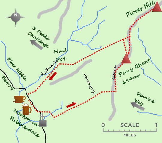 Pen y Ghent map