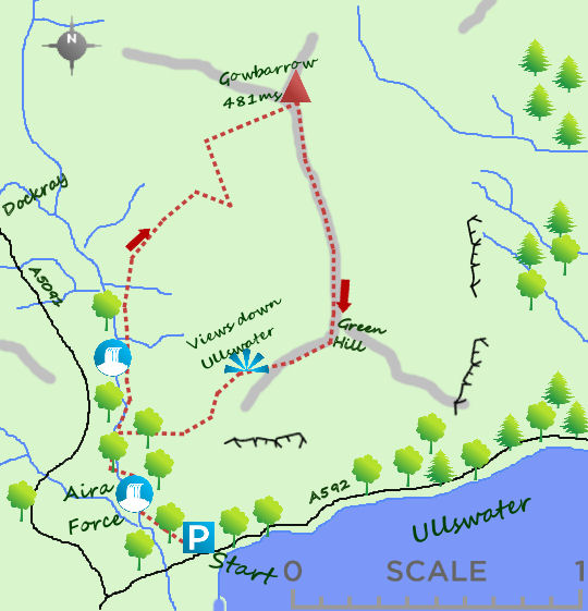 Gowbarrow & aira force map