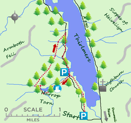 Back of Thirlmere map