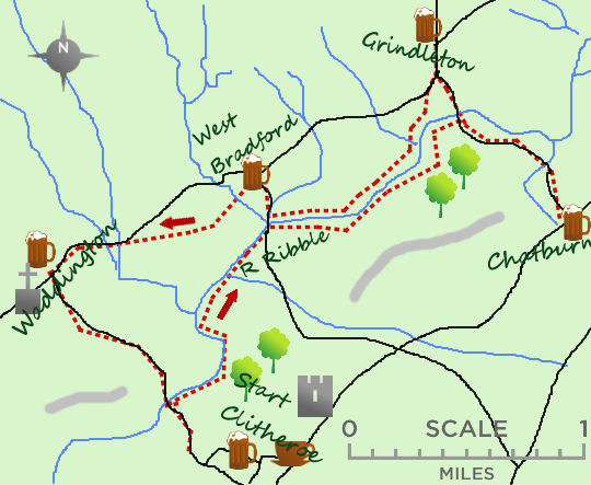 Villages of Clitheroe map
