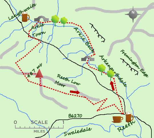 Reeth Low Moor map