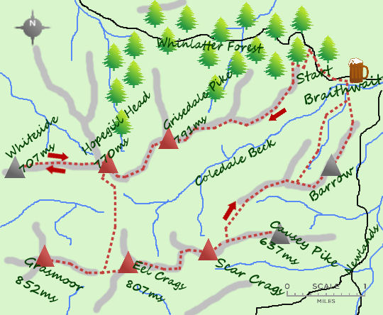 Coledale Round map