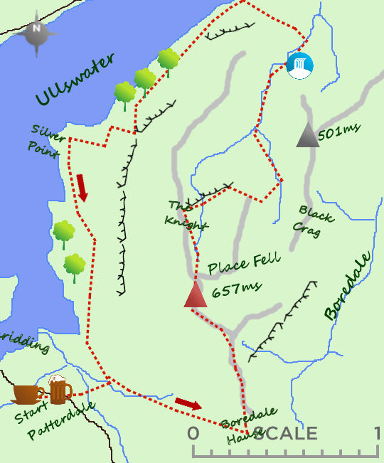 Place Fell map