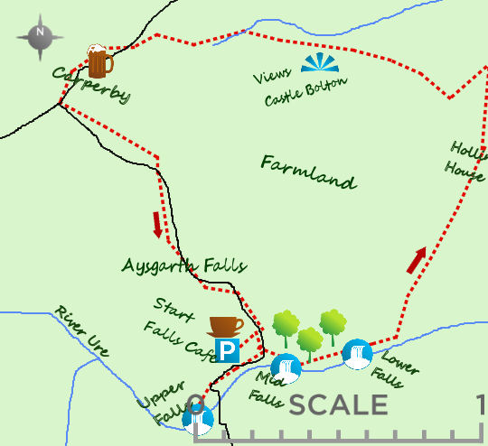 Aysgarth Falls Map