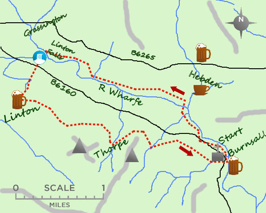 Villages of Wharfedale map