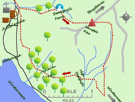 Wansfell & Windermere map