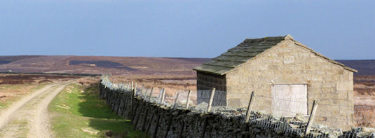 Barn on Fountains Earth above Nidderdale