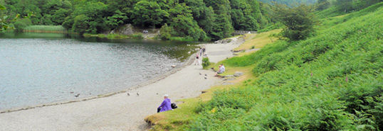 Beach under Loughrigg