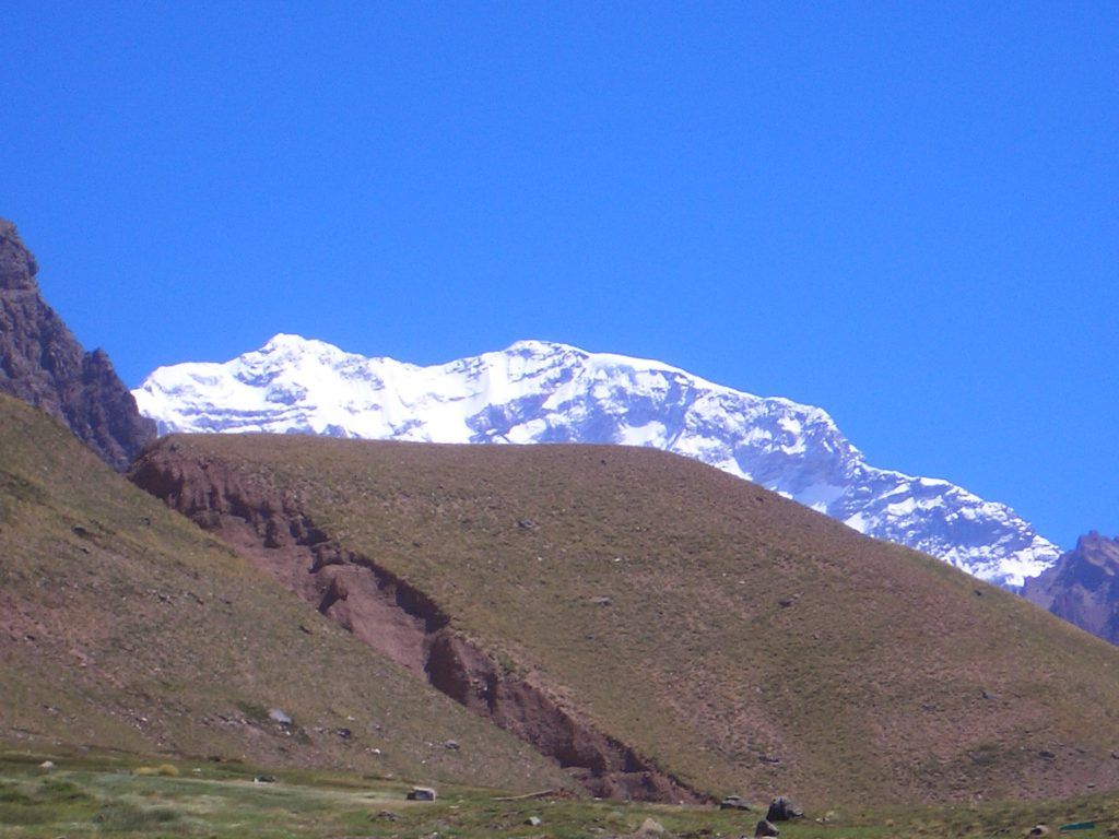 First Sight of Aconcagua