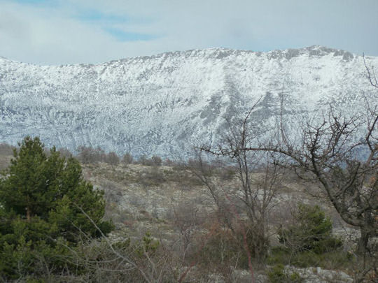 Spectacular cliffs near Gourdon