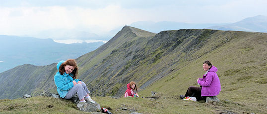 Looking over the Blencathra ridge