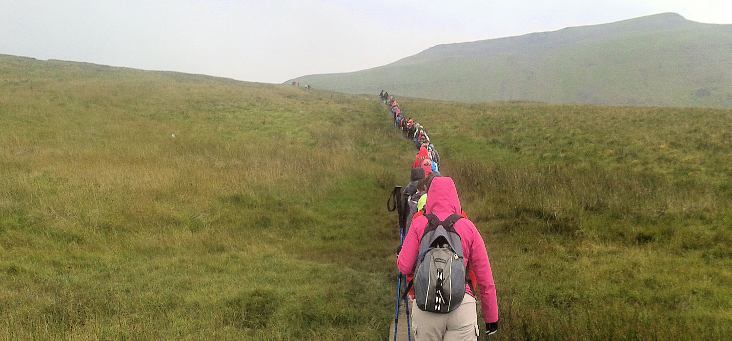 Climbing Ingleborough on a summer Saturday