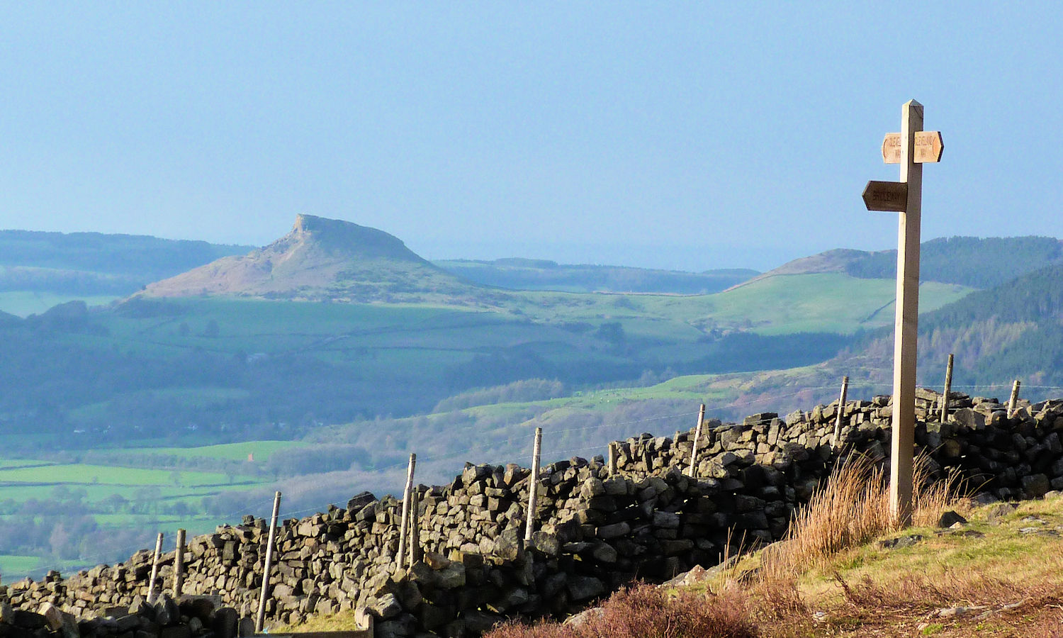 Looking north east to Roseberry Topping