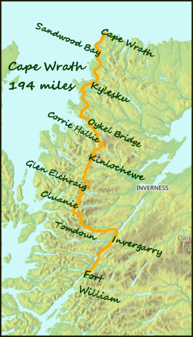 Cape Wrath map