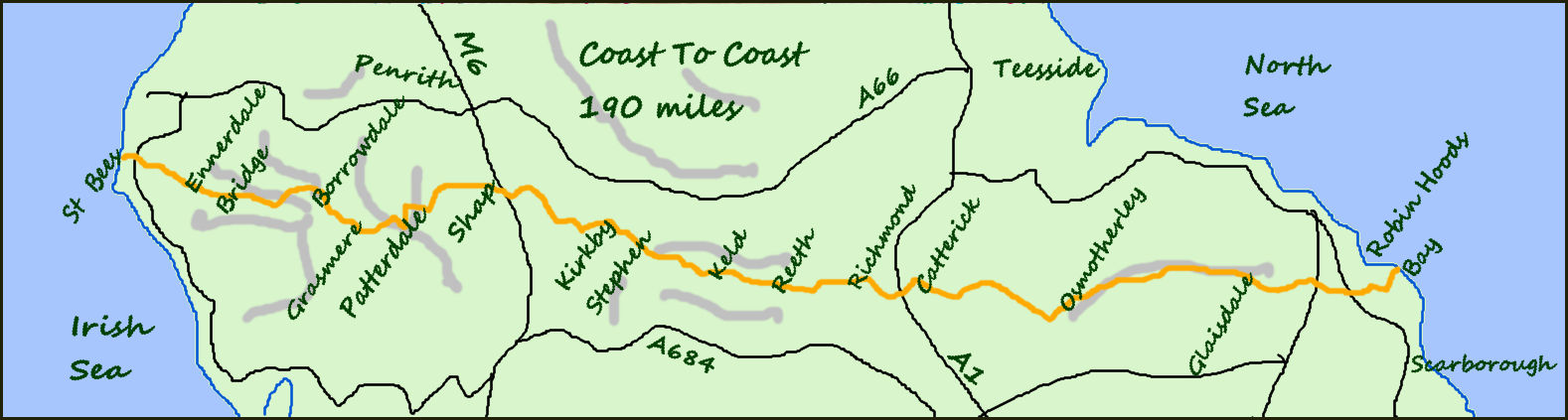 Coast to Coast map