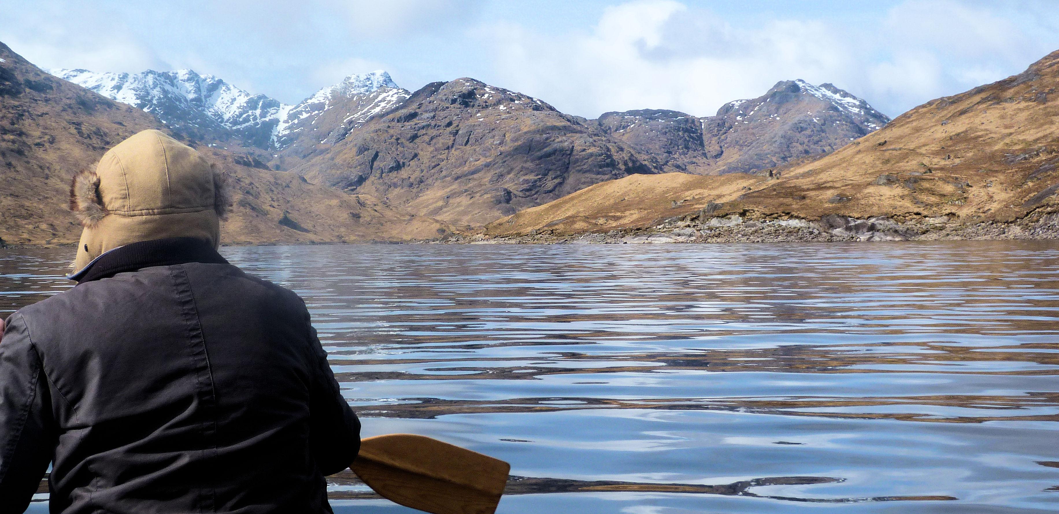 Approaching Ben Aden along Loch Qoich