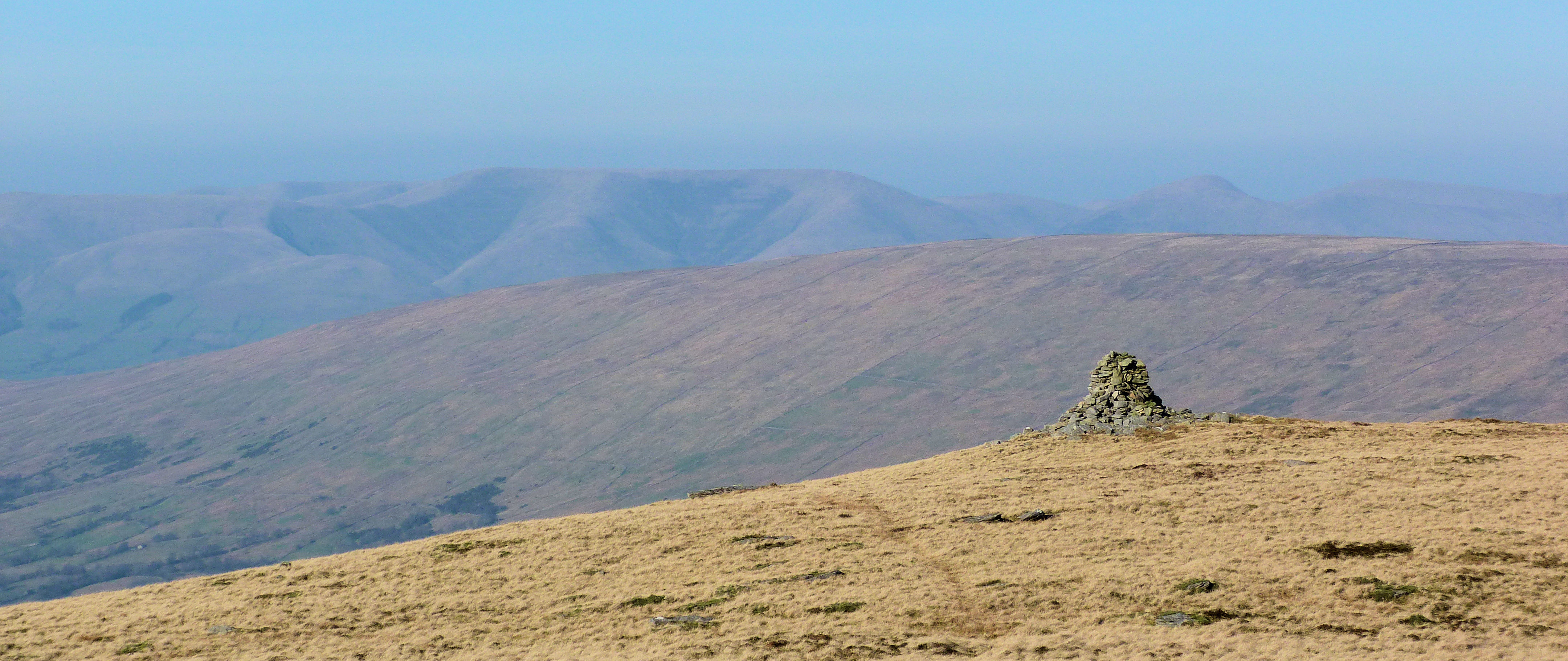 Isolated cairn near 3 Tarns on Whernside