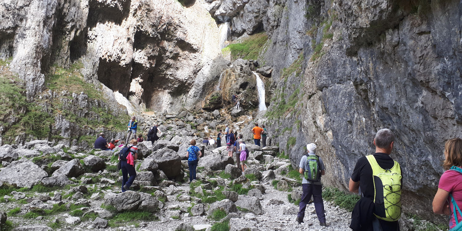 A planned detour at Gordale Scar