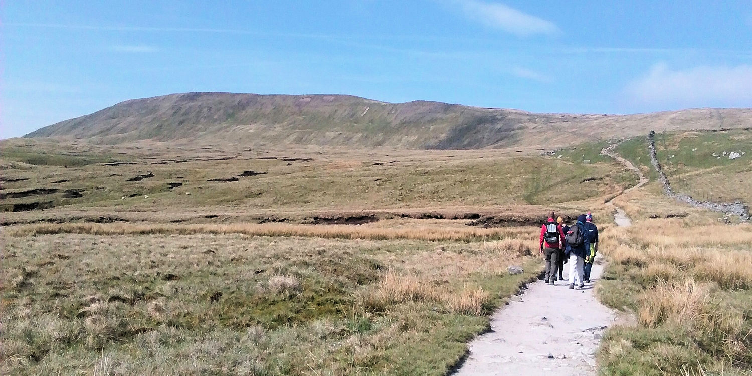 Heading up Whernside,