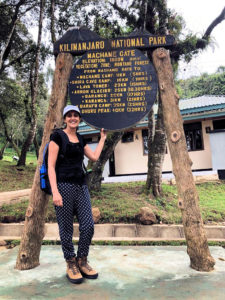 Kay at Machame Gate