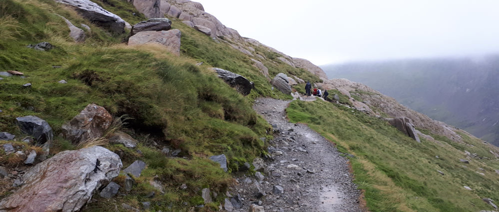 The Pyg Track on a wet day