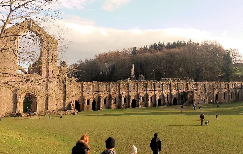 Fountains Abbey cloisters