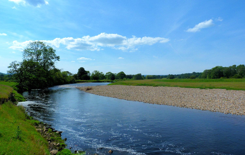 River Ure near Jervaulx Abbey