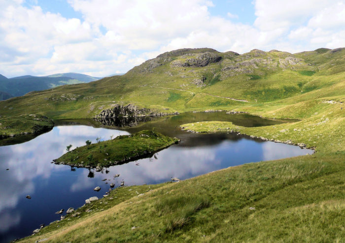 Angle Tarn with Angle Pikes